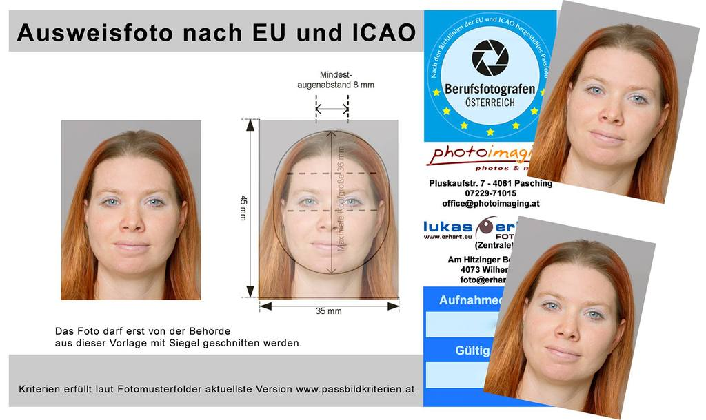 EU - Passbilder bei photoimaging in der Plus City Pasching
