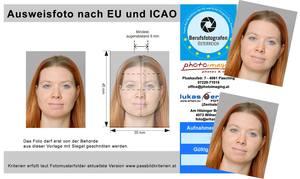 EU -Passbilder nach ICAO / Führerschein