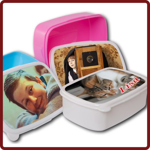 Brotdose / Jausenbox in den farben: Rosa; Hellblau; Weiss