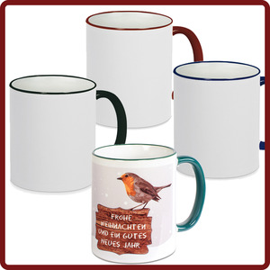 Tasse mit Farbe