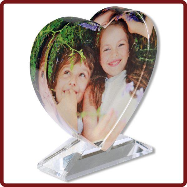 Unser Glasherz mit eigenem Foto bedruckt direkt zum mitnehmen bei photoimaging